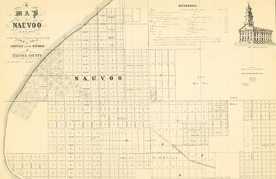 PHOTO: Map of historic Nauvoo